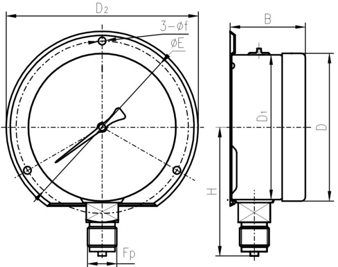 Bottom mounting Bayonet flange mounting