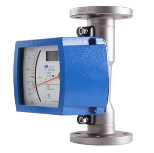 Variable area flow meter for industrial water flow measurement
